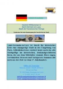Brochure en allemand