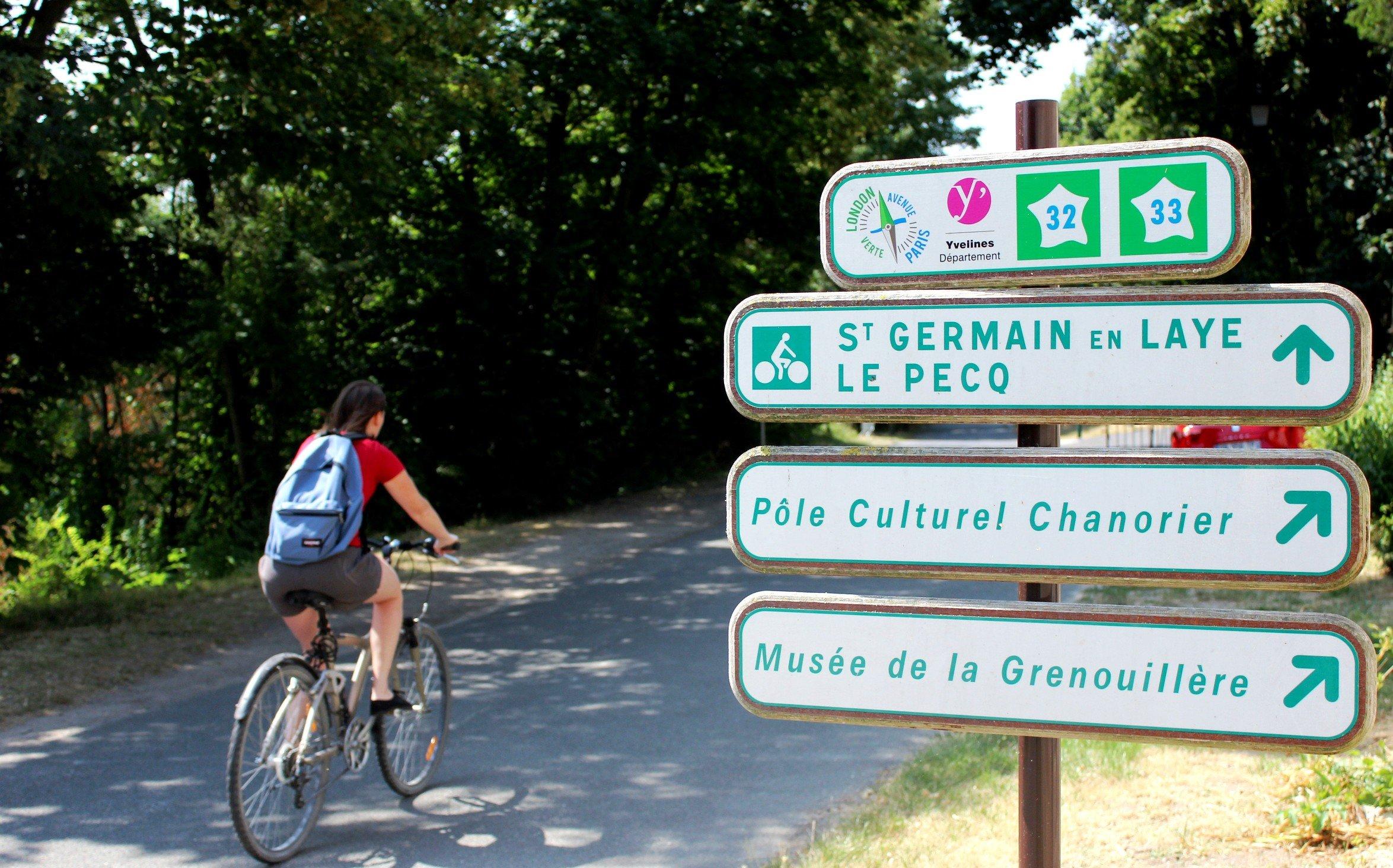 À vélo - Saint Germain Boucles de Seine